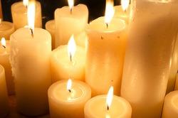 Burning candles