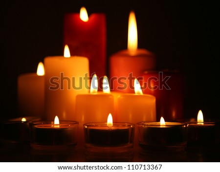 Burning candles - stock photo