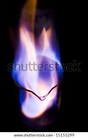 burning Ethanol fuel