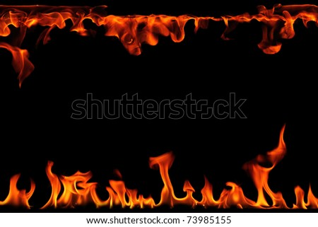 Burning flames abstract background