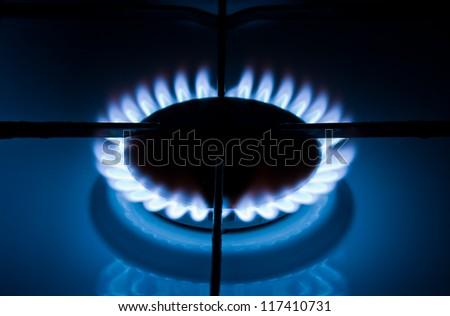 Burning gas - stock photo