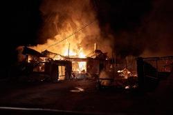 burning house in arieseni romania