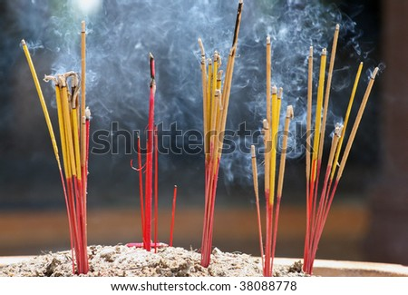 Burning Incense Sticks Stock Photo 38088778 : Shutterstock