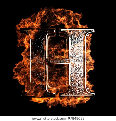 Burning Letter Made In 3d Graphics Stock Photo 97848038 : Shutterstock