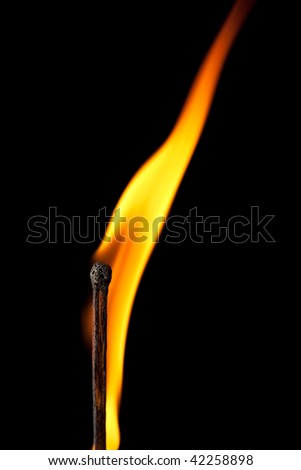 burning match with tongue of flame #42258898
