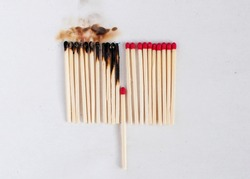 Burning matches domino effect burnout