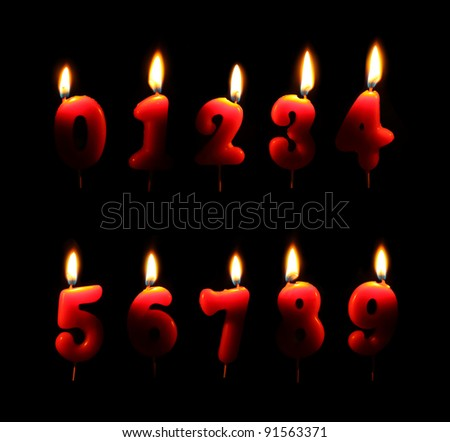 Burning number candles in dark