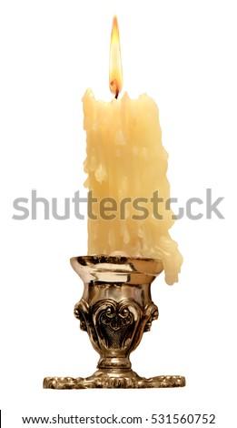 burning old candle vintage...