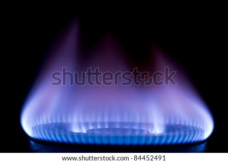 stock photo burning on a gas stove in the kitchen 84452491 Phương pháp xài bếp gas hiệu quả