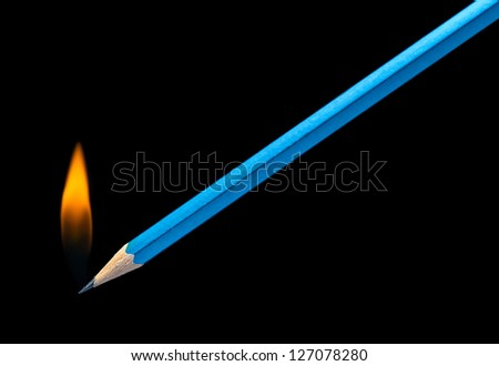 burning pencil