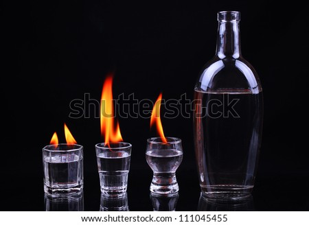 Burning piles of tequila and a bottle