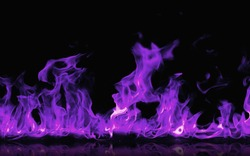 Burning purple flames black background