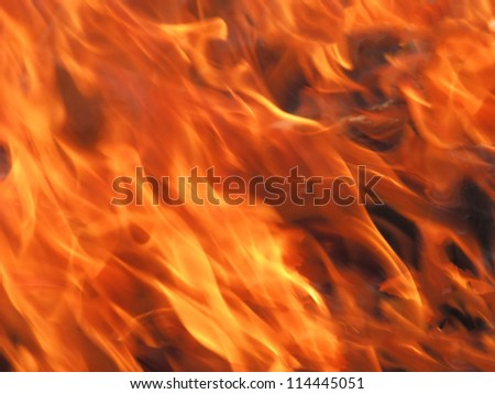 Burning red and yellow  fire background
