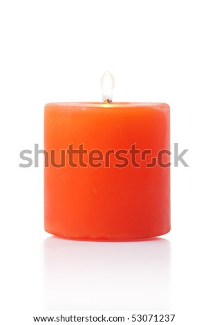red candle white background - photo #40