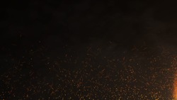 Burning red hot sparks, Fire Glowing Particles on Black Background. Fire particles stock images