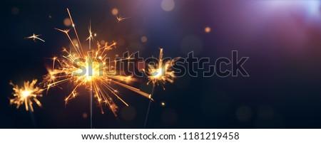 Burning sparkler, Happy New Year #1181219458