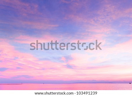 Burning Sunrise Cloudscape - stock photo