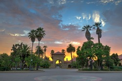 Burning sunset Stanford