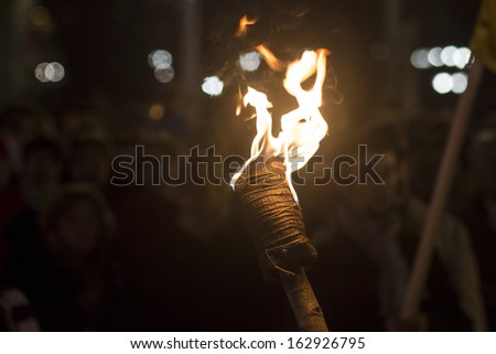 Burning Torch in the Night