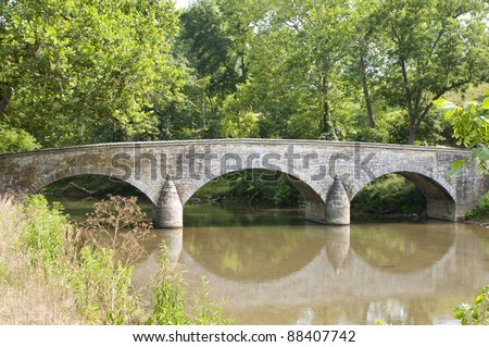 burnside's bridge in the...