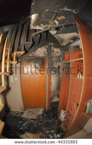 Burnt apartment #44331883
