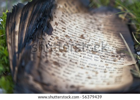 burnt book pages