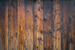 Burnt brown wooden not painted wall texture background