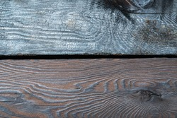 Burnt wooden board texture of Yakisugi or Sho Sugi Ban is traditional Japanese method of wood preservation.