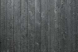 Burnt wooden board texture. Sho-Sugi-Ban Yakisugi is a traditional Japanese method of wood preservation