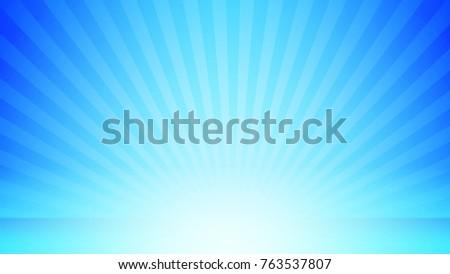 burst background for presentation with blue light color