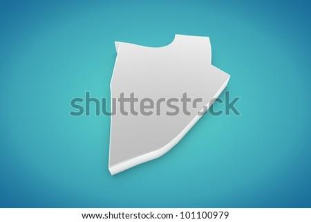 Burundi Map - stock photo