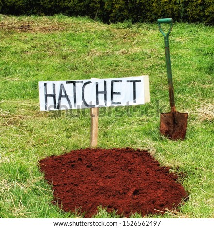 Bury the hatchet - To Forgive. This picture can be used to illustrate the saying #1526562497