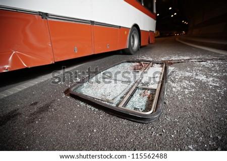 Bus Accident - stock photo