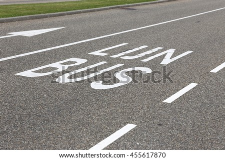bus lane in the Netherlands (translation: bus lane) #455617870