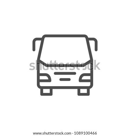 Bus line icon isolated on white