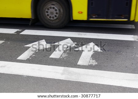 Bus on a crossroad