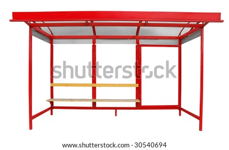 Bus shelter isolated on white background