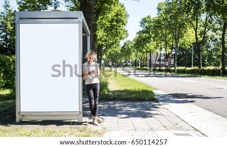 bus stop abri or billboard...