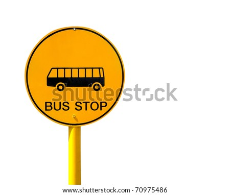 bus stop sign isolated