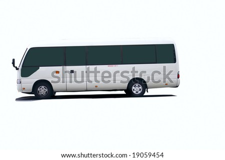 bus with clipping path