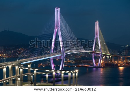Busan Harbor Bay Bridge