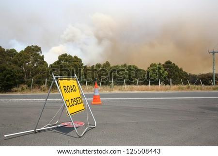 Bush fires in Tasmania. Australia