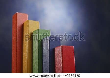 busines concept of colorful wooden block