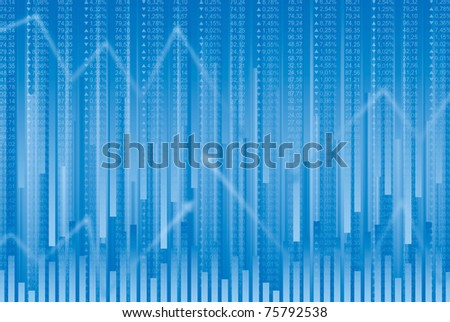 Business abstract background in blue tones
