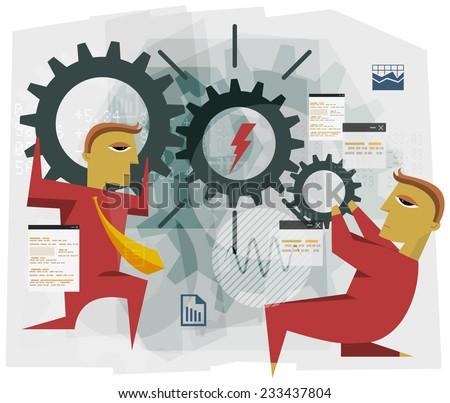 Business Abstract - Teamwork Illustration