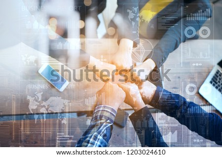 Business Advisory Team Collaborate Analyzes Company's Annual Financial Statements. Balance Sheets Work with Graph Papers. Concept of internal Audit, tax, Return on Investment Analysis Shareholders