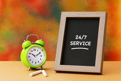 Business agreement partnership. 24/7 Service, Business Concept