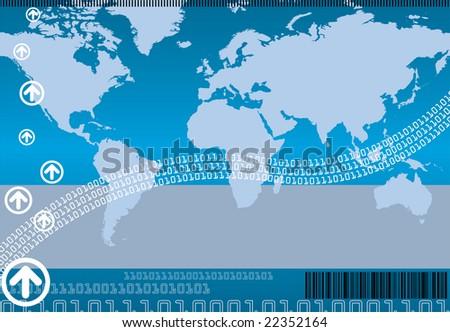 Business & Technology Background (Raster Version) - stock photo