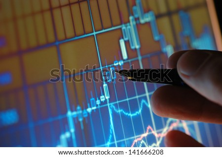 Business analyze - close up on computer screen