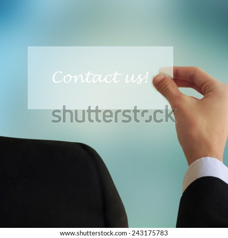 Business and advertisement concept. Close up of businessman writing to something